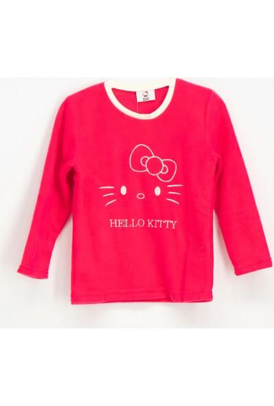 Hello Kİtty Lisanslı Polar Kız Çocuk Sweatshirt Fuşya