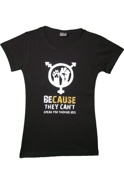 Maddog Kadın Because Bisiklet Yaka Tshirt