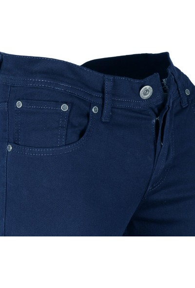 Modarar Erkek Keten Kot Pantolon Slim Fit İndigo Rar00202