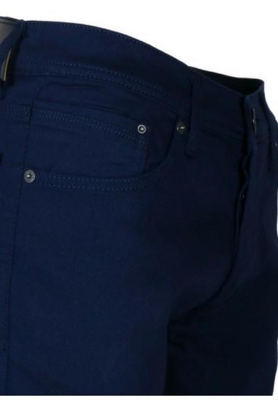 Modarar Erkek Keten Kot Pantolon Slim Fit Likralı Lacivert Rar00239