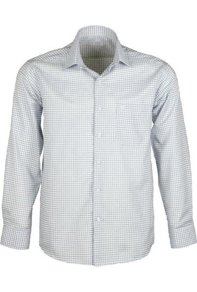 Modarar Erkek Gömlek Klasik Normal Kesim Rar00241 Kareli Gömlek