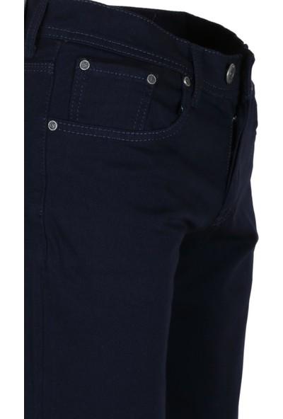 Modarar Erkek Keten Pantolon Lacivert Slim Fit Likralı Rar00291