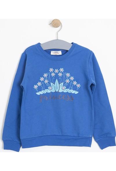 Soobe Kız Çocuk Sweatshirt Mavi (3 - 12 Yaş)