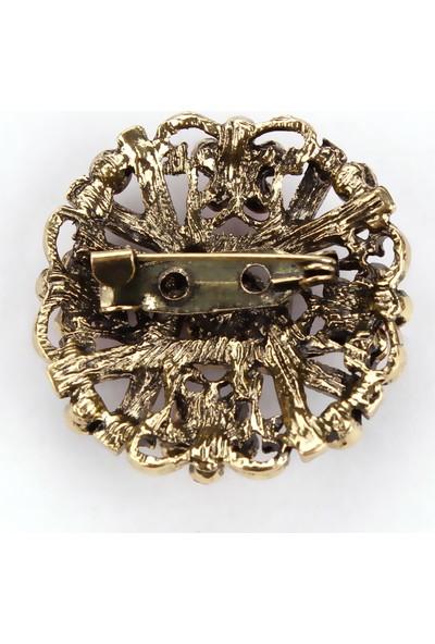 VipBT Retro Kristal Antik Broş 5366