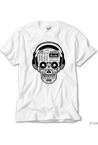 Zepplin Giyim Dj Skull Erkek Tshirt