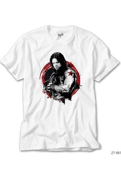Zepplin Giyim Avangers Winter Soldier Erkek Tshirt
