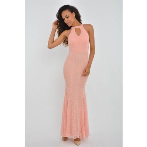 163b251b2ea01 Espenica 3854-1 Hannelore Dantel Balık Elbise Düğün Nişan Fiyatı