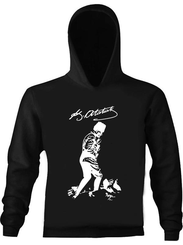 Art T-Shirt Atatürk Kocatepe Çocuk Kapüşonlu Sweatshirt