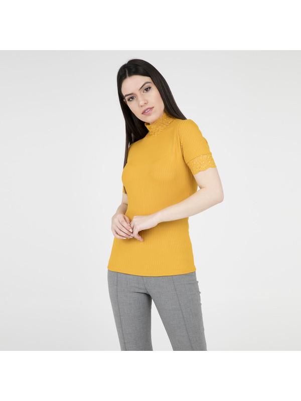 Only Onlmıla Ss Lace Top Jrs Kadın Bluz 15174507