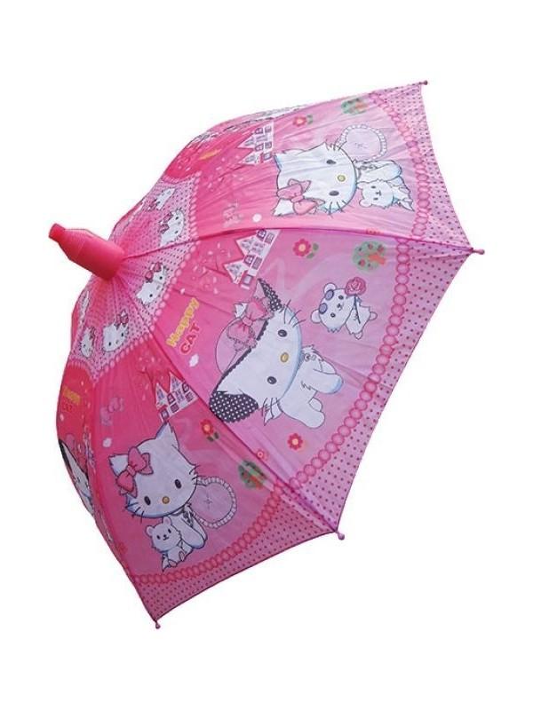 Adalinhome Hello Kity'Li Bardaklı Aksesuarlı Şemsiye