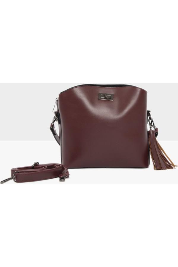 Bagmori Arched Locked Bag Mini Imported Bordeaux