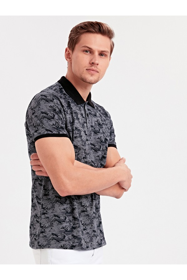 LC Waikiki Men's T-Shirt with Patterned Design