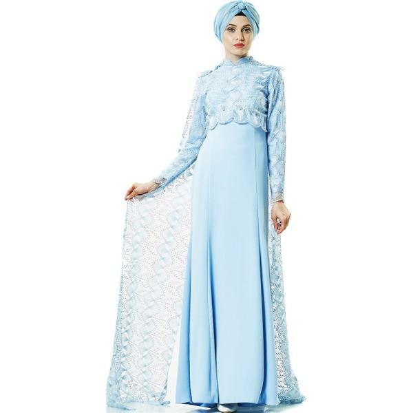 919126e72bdf9 Fashion Night Abiye Elbise-Bebek Mavisi 2144-118 - 44 - Mavi Ürün Resmi