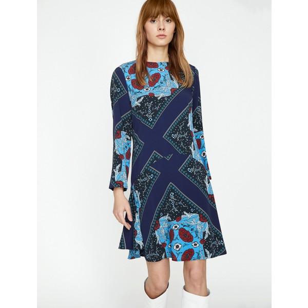 a01ac831ddfb0 Koton Desenli Elbise - 34 - Mavi Fiyatları, Özellikleri ve Yorumları ...