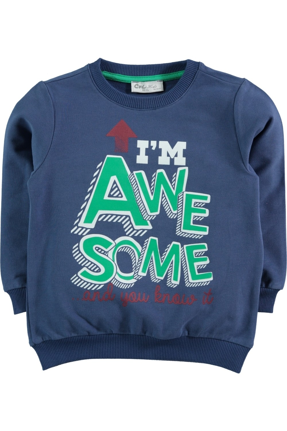 Civil Children's Sweater with Printed Details