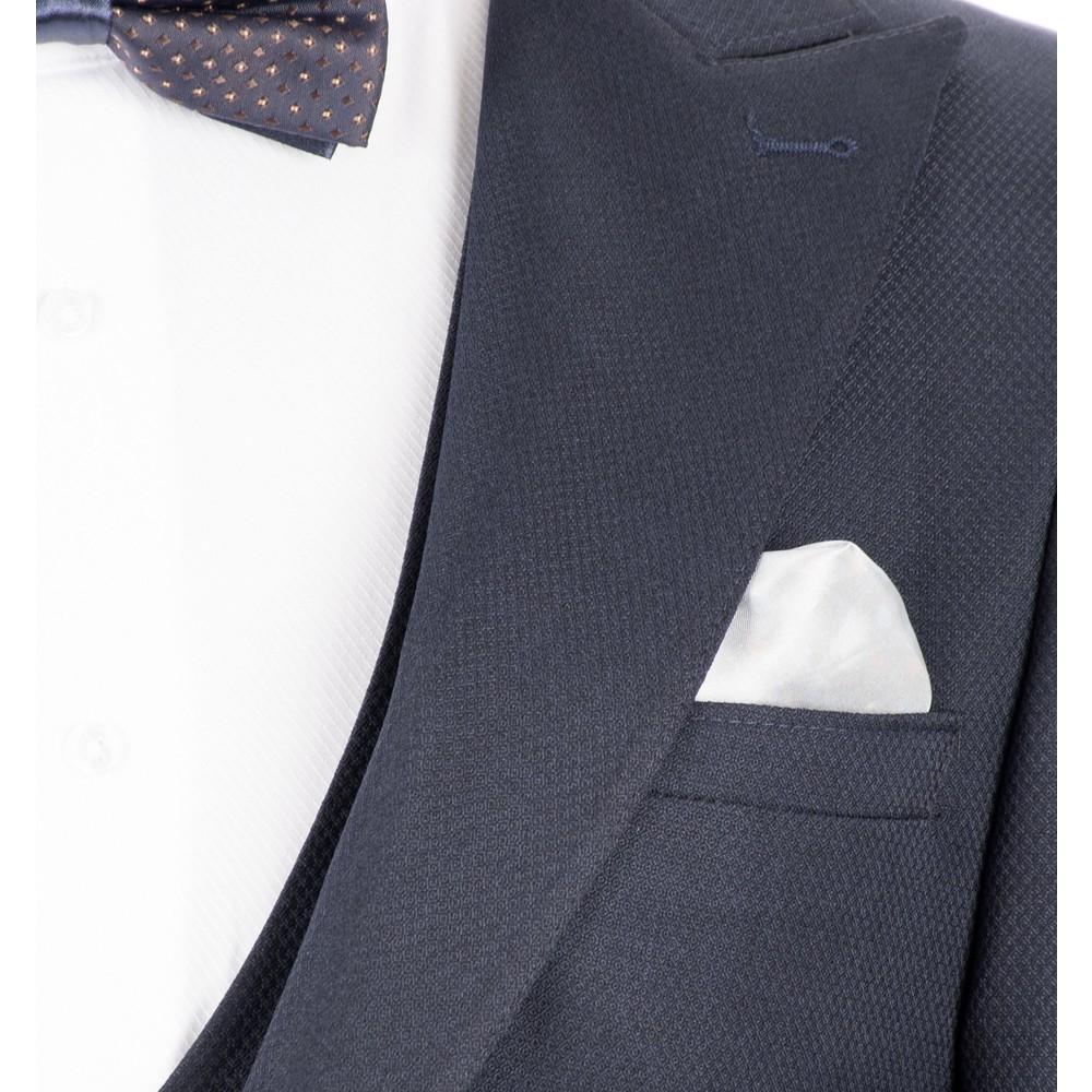 618b488643328 Deepsea Lacivert Kare Desenli İtalyan Kesim Yelekli Erkek Fiyatı