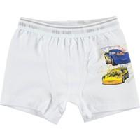 Öts İç Giyim Erkek Çocuk Penye Boxer 2-12 Yaş Beyaz