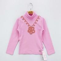 Toontoy Kız Çocuk Sweatshirt Çiçek Nakışlı Balıkçı Yaka İçi Şardonlu