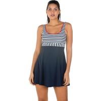Miramar Kadın Mayo Elbise Etekli Lacivert 8914