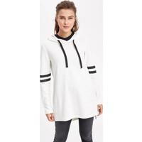 Defacto Kadın Kolları Şerit Detaylı Kapşonlu Sweat Tunik