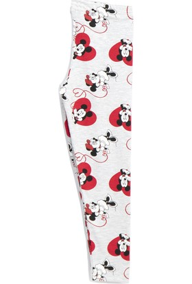 Mickey & Minnie Mouse Lisanslı Simli Kız Çocuk Tayt Karmelanj