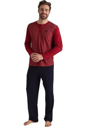 Mod Collection 3091 Patlı Uzun Kol Erkek Pijama Takım