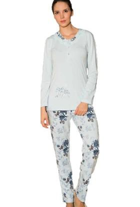Rozalinda 1624 Kadın Emprime Pijama Takım