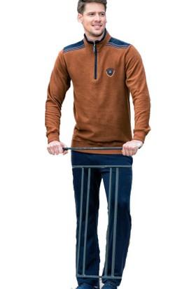 Poleren 5856 Erkek Kışlık Fermuarlı Selanik Eşofman Takım
