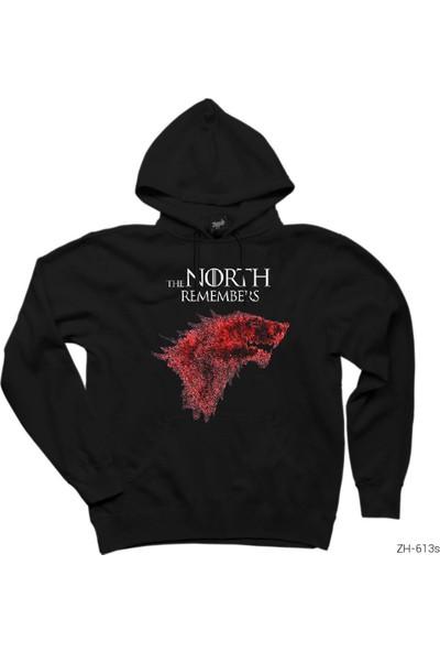 Zepplin Giyim Game of Thrones The North Remembers Kapşonlu Sweatshirt / Hoodie