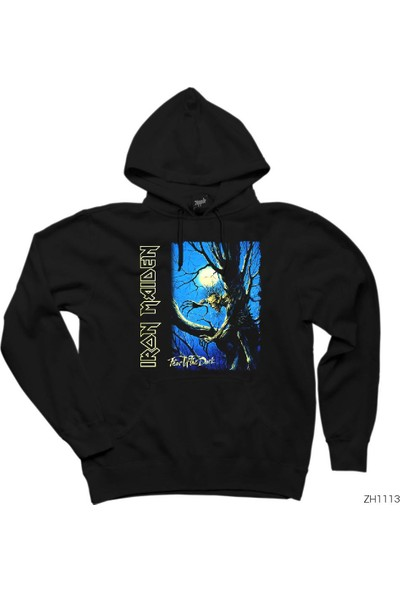 Zepplin Giyim Iron Maiden Fear of The Dark Cover Kapşonlu Sweatshirt / Hoodie