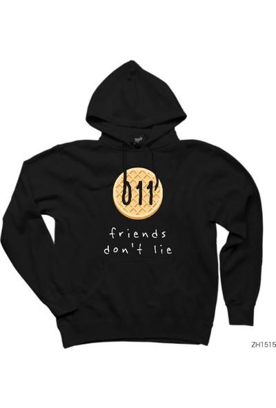 Zepplin Giyim Stranger Things Friends Dont Lie Kapşonlu Sweatshirt / Hoodie