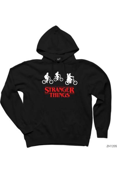 Zepplin Giyim Stranger Things Bicycle Kapşonlu Sweatshirt / Hoodie