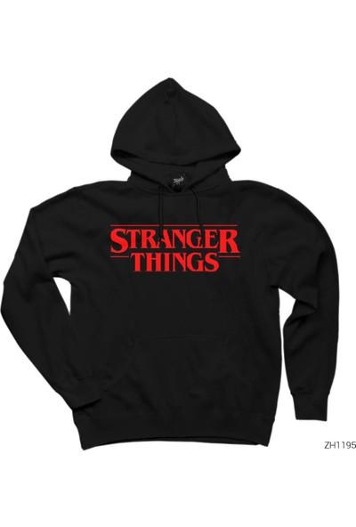 Zepplin Giyim Stranger Things Logo Kapşonlu Sweatshirt / Hoodie