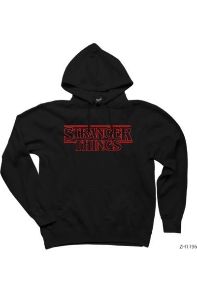 Zepplin Giyim Stranger Things Logo Outline Kapşonlu Sweatshirt / Hoodie