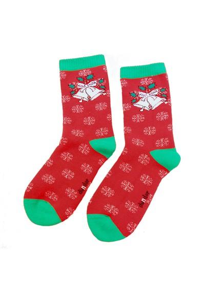 Dündar Pamuklu Havlu Dikişsiz Yumuşak Kadın Yılbaşı Çorap 3 Adet