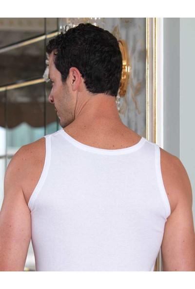 Şahinler 6'lı Paket Ribana %100 Pamuk Erkek Atlet Beyaz ME020