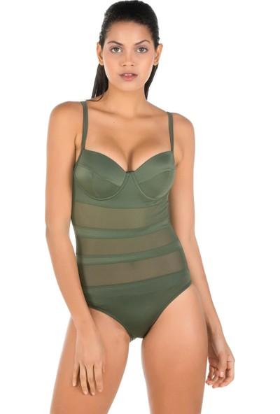 Miramar Kadın Mayo Korseli Yeşil Renk 9766