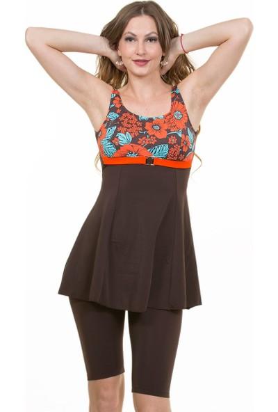 Miramar Kadın Mayo Elbise Taytlı A113