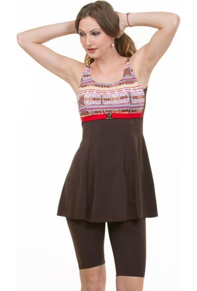 Miramar Kadın Mayo Elbise Taytlı B102
