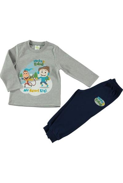 Kukuli Erkek Çocuk Pijama Takımı 1-5 Yaş Gri