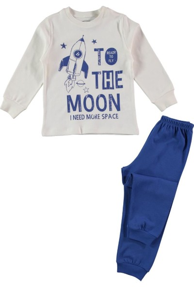 Civil Erkek Çocuk Pijama Takımı 2-5 Yaş Ekru