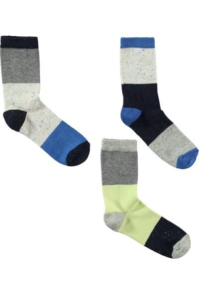 Civil Boys Erkek Çocuk 3'lü Soket Çorap 2-12 Yaş Lacivert