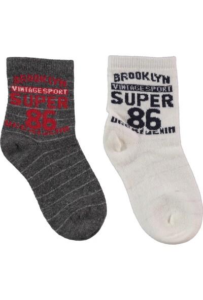 Civil Erkek Çocuk 2'li Çorap Set 3-11 Yaş Gri