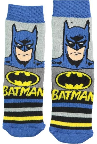 Batman Erkek Çocuk Soket Çorap 5-9 Yaş Gri