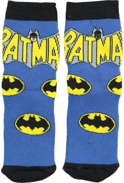 Batman Erkek Çocuk Soket Çorap 5-9 Yaş Mavi