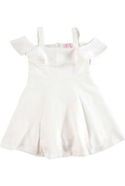 25cfcfb4f266f Missiva Kız Çocuk Elbise 6-9 Yaş Ekru