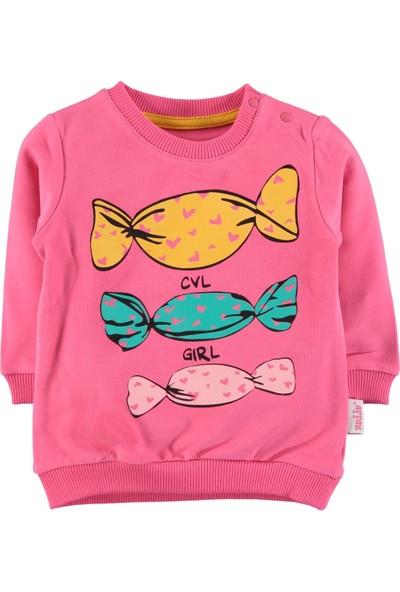 Civil Kız Çocuk Sweatshirt 2-5 Yaş Fuşya