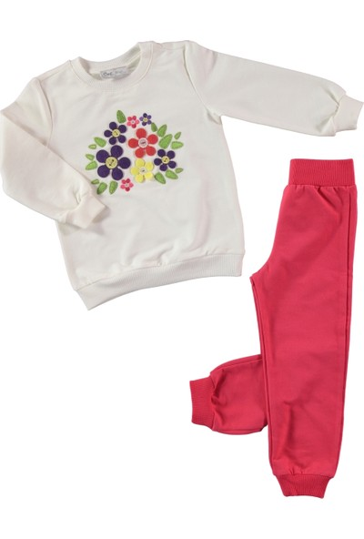 Civil Kız Çocuk Eşofman Takımı 2-5 Yaş Narçiçeği