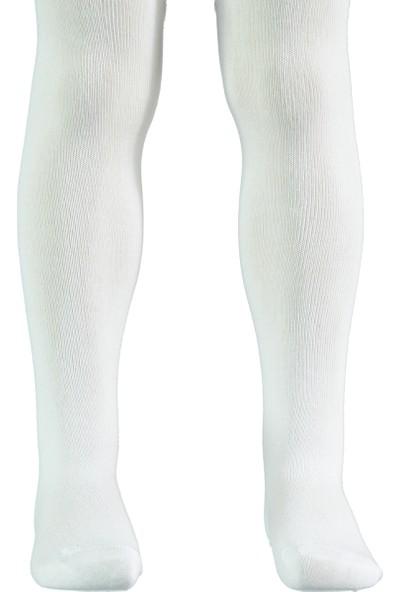 Civil Girls Kız Çocuk Külotlu Çorap 0-11 Yaş Beyaz