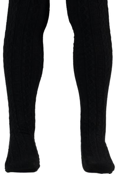Bella Calze Kız Çocuk Külotlu Çorap 2-13 Yaş Siyah